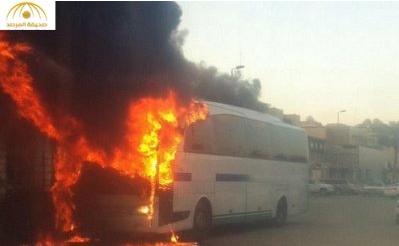 الداخلية تعلن القبض على متورط في إشعال حافلة وإطلاق نار على دوريات أمن بالقطيف