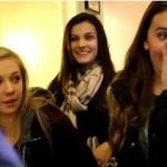 بالفيديو: ساحر يبهر مجموعة فتيات بفك رمز آيفون إحداهن