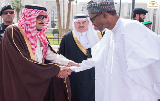 بالصور: خادم الحرمين يستقبل رئيس جمهورية نيجيريا ويقيم مأدبة غداء تكريماً له