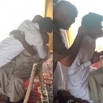 بالفيديو: مسن يبكي متأثراً برؤية حفيده المصاب العائد من الحد الجنوبي