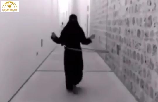 بالفيديو:خليجية منتقبة تثير ضجة على مواقع التواصل بعد وصلة رقص بالطوق
