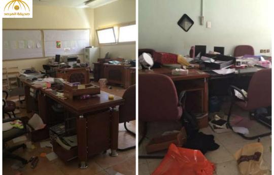 بالصور: مجهولون يسرقون 8 مدارس بنات مساء أمس بالرياض