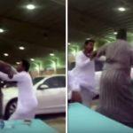 فيديو : مضاربة بين سوداني وسعودي في أحد معارض السيارات