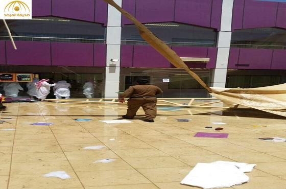 وفاة طالبة وإصابة 19 في حادثة مظلة مدرسة البنات بعسير-صور