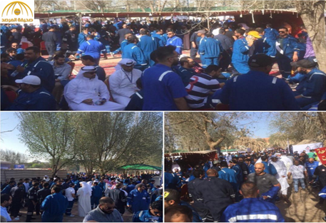 بالفيديو والصور: إضراب عمال نفط بالكويت احتجاجا على مشروع البديل الاستراتيجى