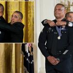 بالصور : موقف كوميدي للرئيس أباما أثناء حفل تكريم لضباط بشرطة لوس أنجلوس