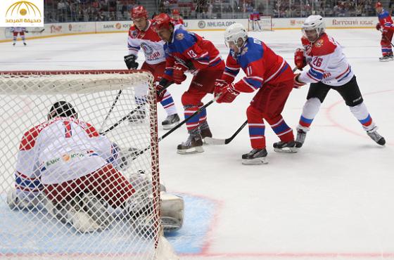 شاهد:بوتين يستعرض مهاراته الرياضية ويشارك مباراة للنجوم في هوكي الجليد