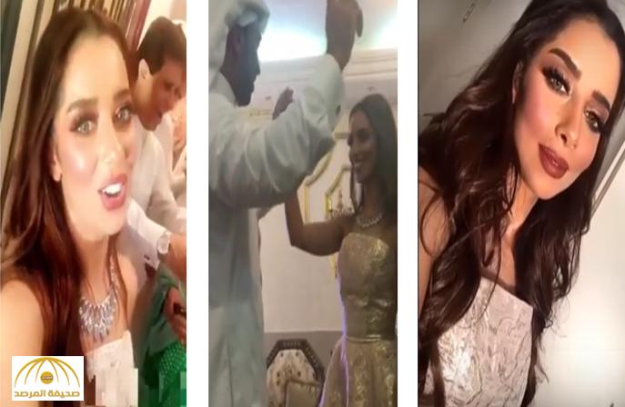 """بالفيديو والصور:بلقيس ترقص مع زوجها في زفة يمنية بعد """"عقد قرانها"""""""