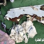 شاهد: صور من  بعض حطام الطائرة المصرية المنكوبة