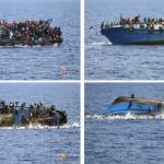 شاهد: صور مروعة لانقلاب زورق يقل مهاجرين في المتوسط