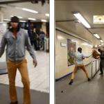 بالفيديو : داعشي يعتدي على راكب بسكين في محطة مترو بلندن