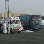 """""""سائق إسعاف"""" يدهس  مقيم سوداني قطع الطريق  في مكة-صور"""