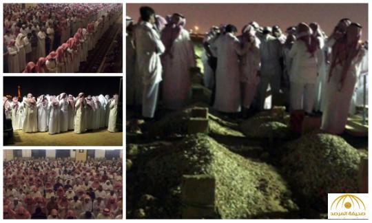 بالصور:جموع غفيرة تشيع والدة التوأم الداعشي بالسعودية