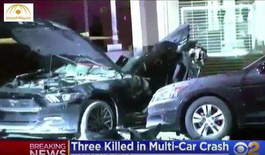 مقتل3 كويتيين في حادث مروع في أمريكا- فيديو