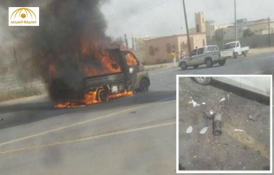 بالصور:إصابة 4 مواطنين بعد سقوط مقذوفات على محافظة صامطة بجازان