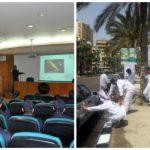 دورة عن دهانات الجزيرة البحرية لطلبة الأكاديمية العربية للعلوم والنقل البحري التابعة للجامعة العربية