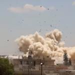 فيديو: شاهد النظام السوري الإرهابي يقصف سكان داريا بعشرات البراميل المتفجرة