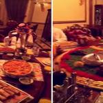 شاهد: بذخ عائلة خليجية تفطر على طاولة متحركة في رمضان !