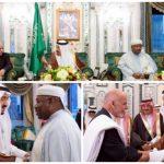 بالصور:خادم الحرمين يستقبل الرئيس الأفغاني والرئيس الجابوني ورئيس وزراء لبنان الأسبق
