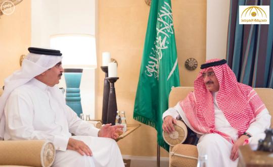 بالصور:ولي العهد يبحث مع وزير داخلية البحرين العلاقات الأخوية بين البلدين وسبل دعمها