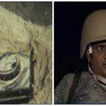 بالفيديو: شاهد .. جندي في حرس الحدود يرفع لغم بيده وزملائه يصفونه بالشجاع