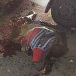 شاهد بالصور: أشلاء وجثة الانتحاري الذي فجر نفسه داخل مواقف مستشفى فقيه بجدة