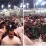 بالفيديو:تدافع بين المعتمرين والزوار للدخول للحرم المكي ليلة 27 رمضان