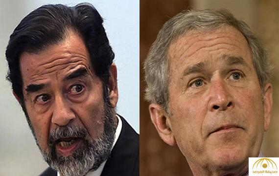 بوش : أنا مقتنع دائما بأن العالم أفضل حالا بدون صدام