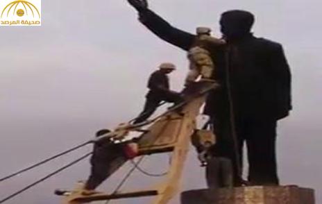 بالفيديو..محطم تمثال صدام حسين: نادم على ما فعلت.. فبعد صدام عُدنا للقرون الوسطى