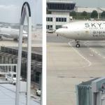 بالفيديو:  مطار ميونيخ يستقبل أول رحلة للسعودية بخراطيش المياه
