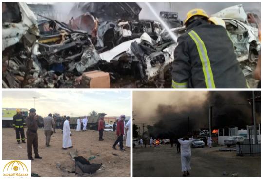 بالصور و الفيديو : استشهاد 4 مواطنين و3 مقيمين إثر سقوط مقذوفات حوثية على نجران
