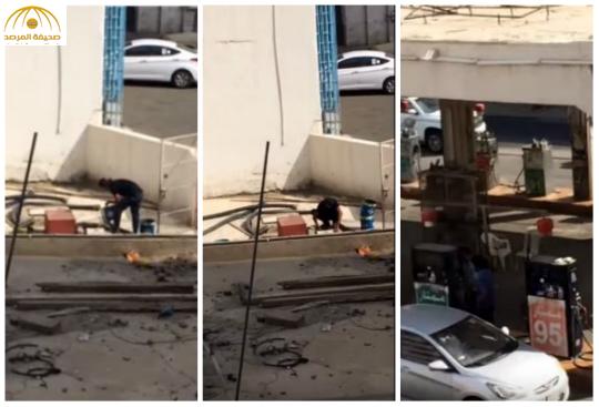 وزارة التجارة تكشف حقيقة مقطع الفيديو الخاص بسكب مادة بخزان وقود بمكة – فيديو