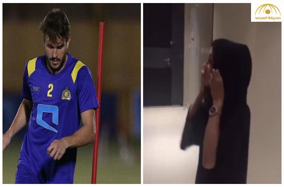 """بالفيديو: زوجة """"برونو أوفيني"""" المحترف في  النصر ترتدي الحجاب"""