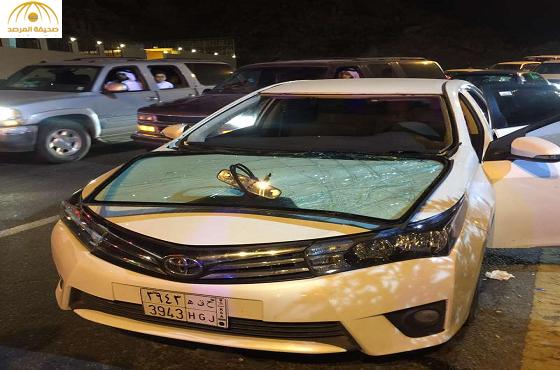 بالصور: انفجار  داخل سيارة يصيب 3 شباب بالطائف..والسبب!