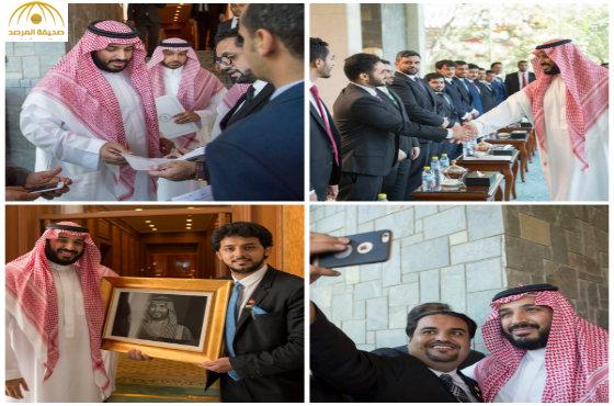 بالصور: ولي ولي العهد يلتقي الطلبة السعوديين في الجامعات الصينية