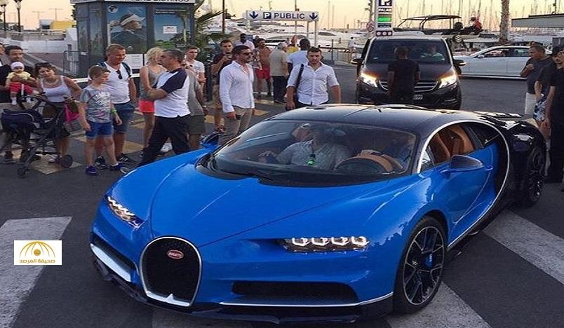 """بالفيديو والصور.. لوحات سعودية تلفت الأنظار على أسرع سيارة في العالم بـ """"كان"""" الفرنسية"""