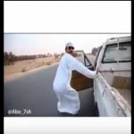 """فيديو: """"أبو حش"""" يقود سيارته بتهور على أحد الطرق .. ومغردون يطالبون  بتطبيق أنظمة التفحيط عليه"""