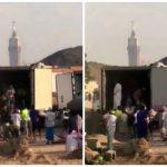 بالفيديو : شاهد .. طريقة توزيع لحوم الهدي و الأضاحي في مكة