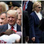 بالصور: دونالد ترامب و هيلاري كلينتون يظهران في مراسم إحياء ذكرى 11/9