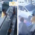 بالفيديو : شاهد لحظة اقتحام سيارة لمطعم بالقطيف
