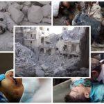 """شاهد : 6 مقاطع فيديو توثق الجرائم الإرهابية  لـ""""بشار الأسد و الرئيس الروسي""""  في سوريا"""