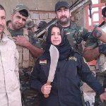 بالصور..على طريقة داعش: عراقية تقود مليشيا شيعية لقطع رؤوس الدواعش وطهوها