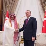 بالصور:أردوغان يستقبل سمو ولي العهد ويعقد معه اجتماعاً