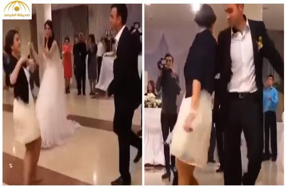 بالفيديو: رقصت فخطفت العريس من عروسه ليلة الزفاف!