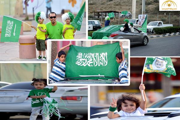بالصور : شاهد مظاهر احتفال أهالي الرياض و الباحة باليوم الوطني 86