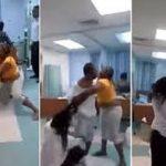 فيديو: معركة حامية بين سيدة وعشيقة زوجها المريض في المستشفى