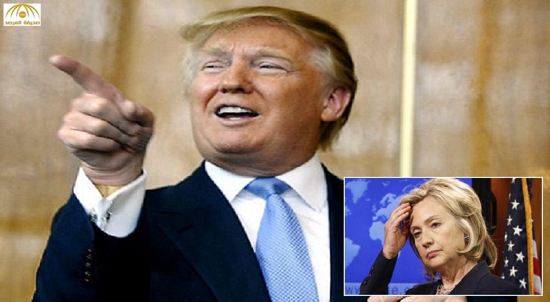 """""""ترامب"""" يستفزّ هيلاري كلينتون بعشيقة زوجها السابقة !!"""