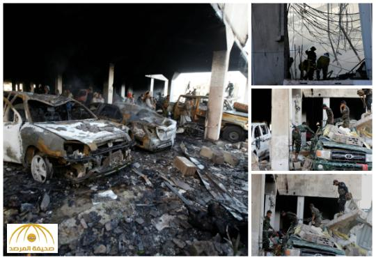 شاهد .. صور جديدة تظهر حجم دمار تفجير الصالة الكبرى بصنعاء ولا أثر للقنابل أو الصواريخ
