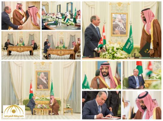 بالصور: ولي ولي العهد و رئيس وزراء الأردن يوقعان مذكرة تفاهم لإقامة مشروع استثماري في العقبة