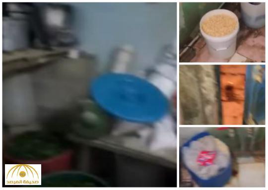 بالفيديو: عمالة وافدة تحضر وجبات مطعم في دورات مياه سكنهم الخاص بالأفلاج